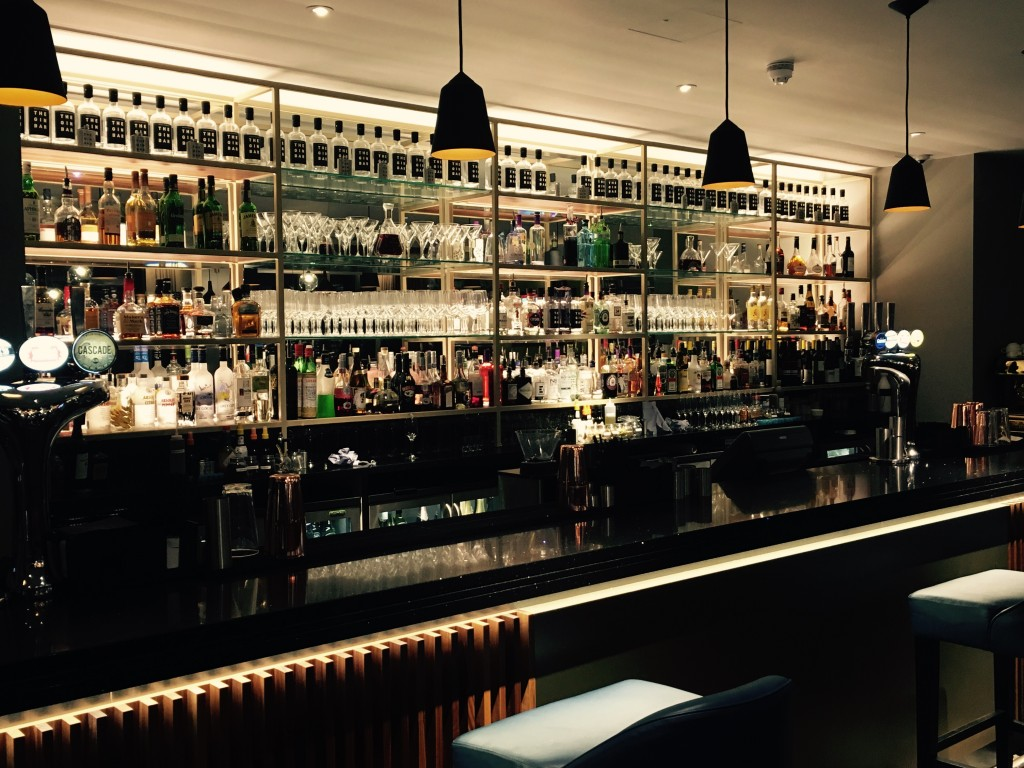 Image shows The Gin Bar at The Crowne Plaza, Newcastle upon Tyne