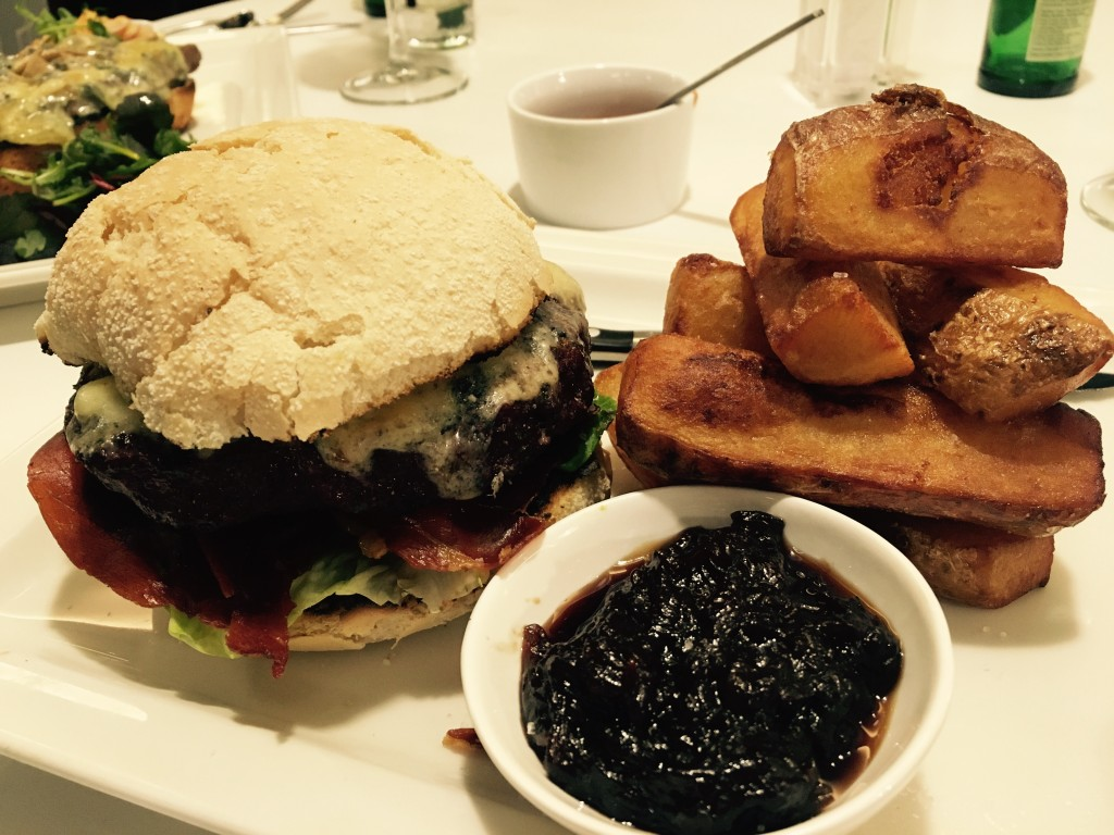 Image shows the Gourmet Burger from Hawthorns, Newcastle