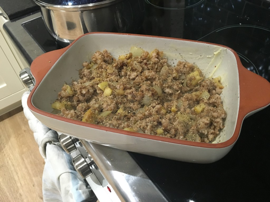 Stuffing using Great British Meat Co fresh sausage meat - Scran on the Tyne