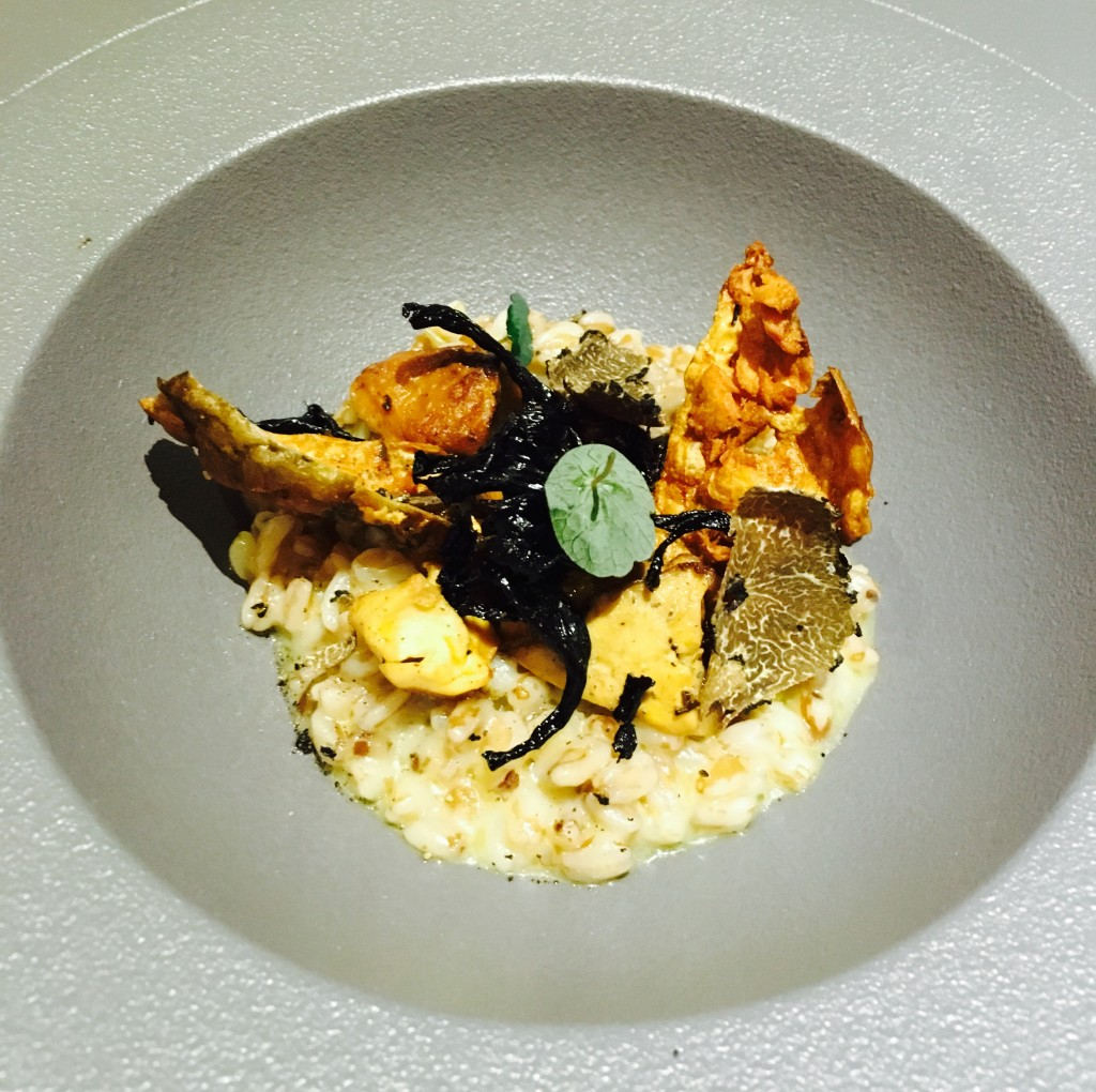 Image shows risotto from Jesmond Dene House room service menu