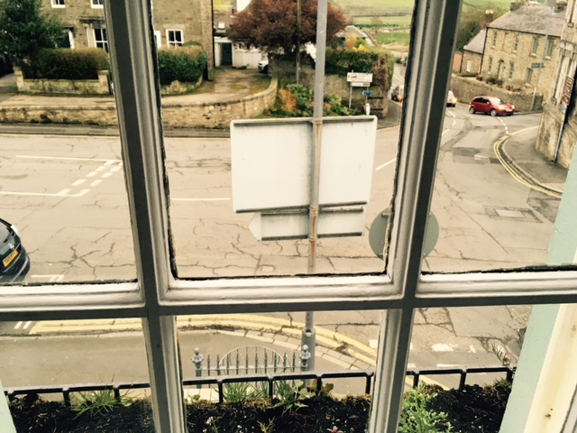Views over Corbridge's Main Street from the Apartment window.