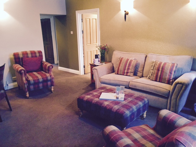 Image shows living room of The Apartment suite at The Angel Inn