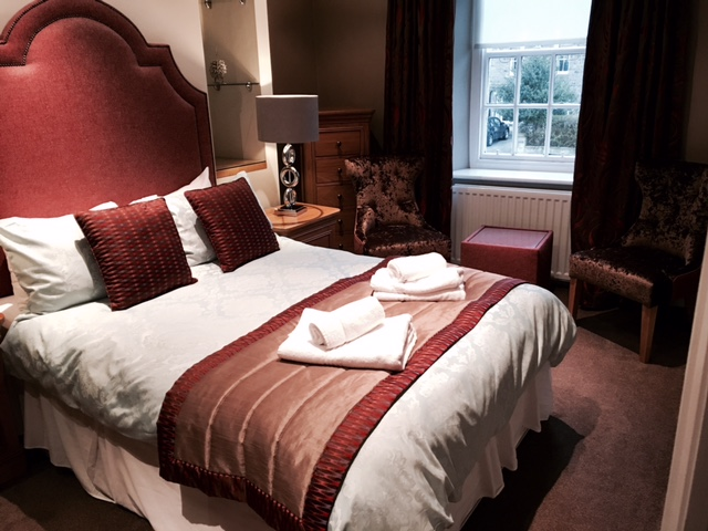 Image shows Master bedroom at The Angel Inn