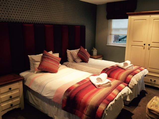 Image shows the second bedroom in the apartment suite at The Angel Inn