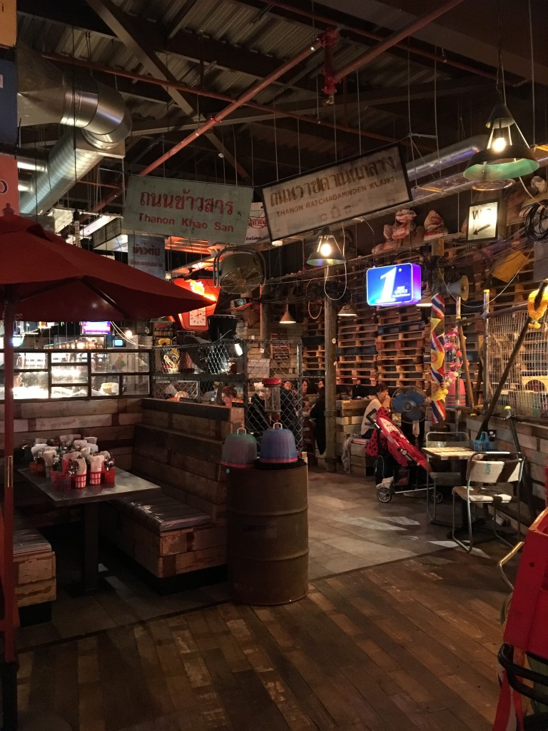 Thaikhun interiors at the Metro Centre restaurant