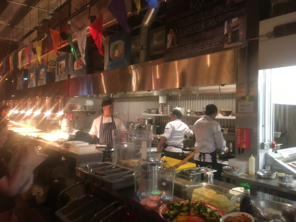 The open kitchen at Thaikhun, Gateshead