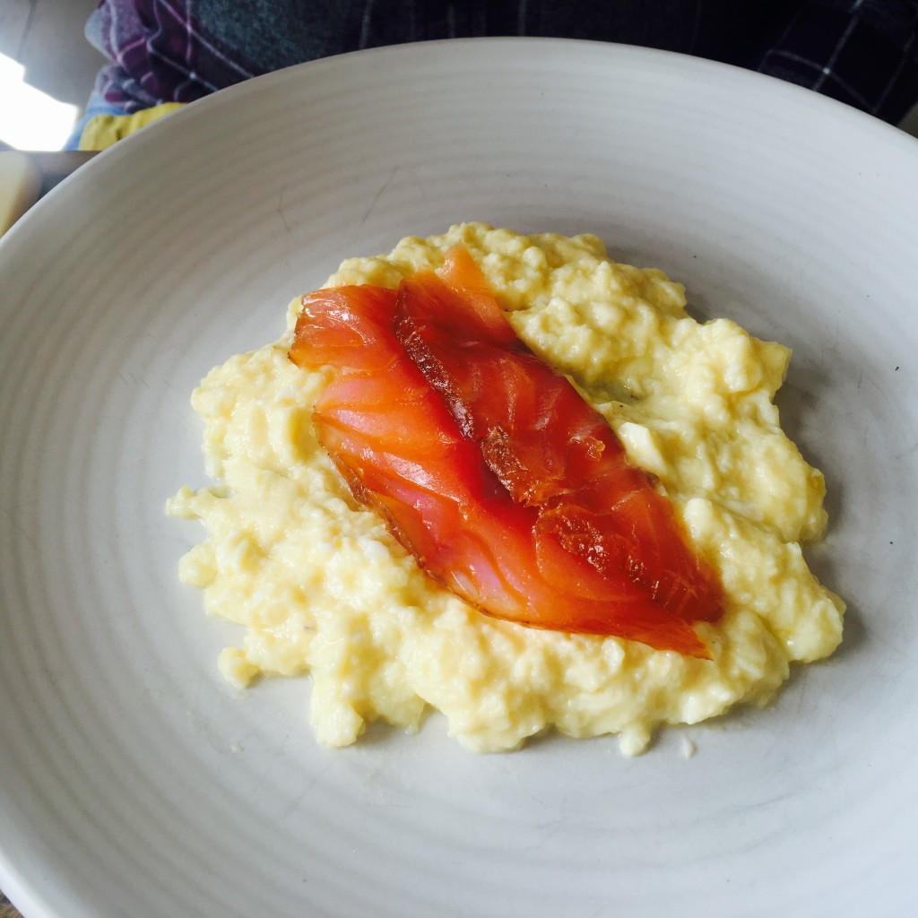 Salmon and Scrambled Egg at The Lord Crewe Arms