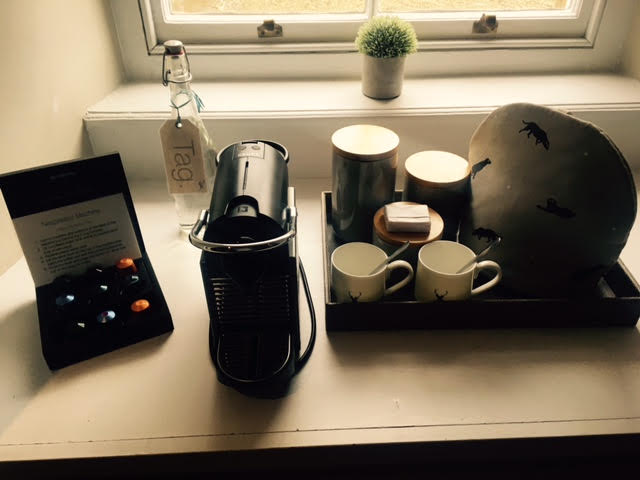Nespresso machine at Whiteheaps in The Lord Crewe Arms