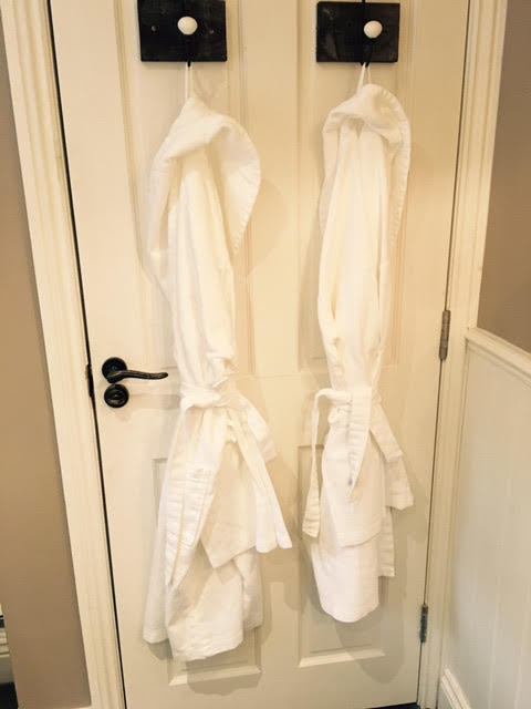 Beautiful bath robes at The Lord Crewe Arms