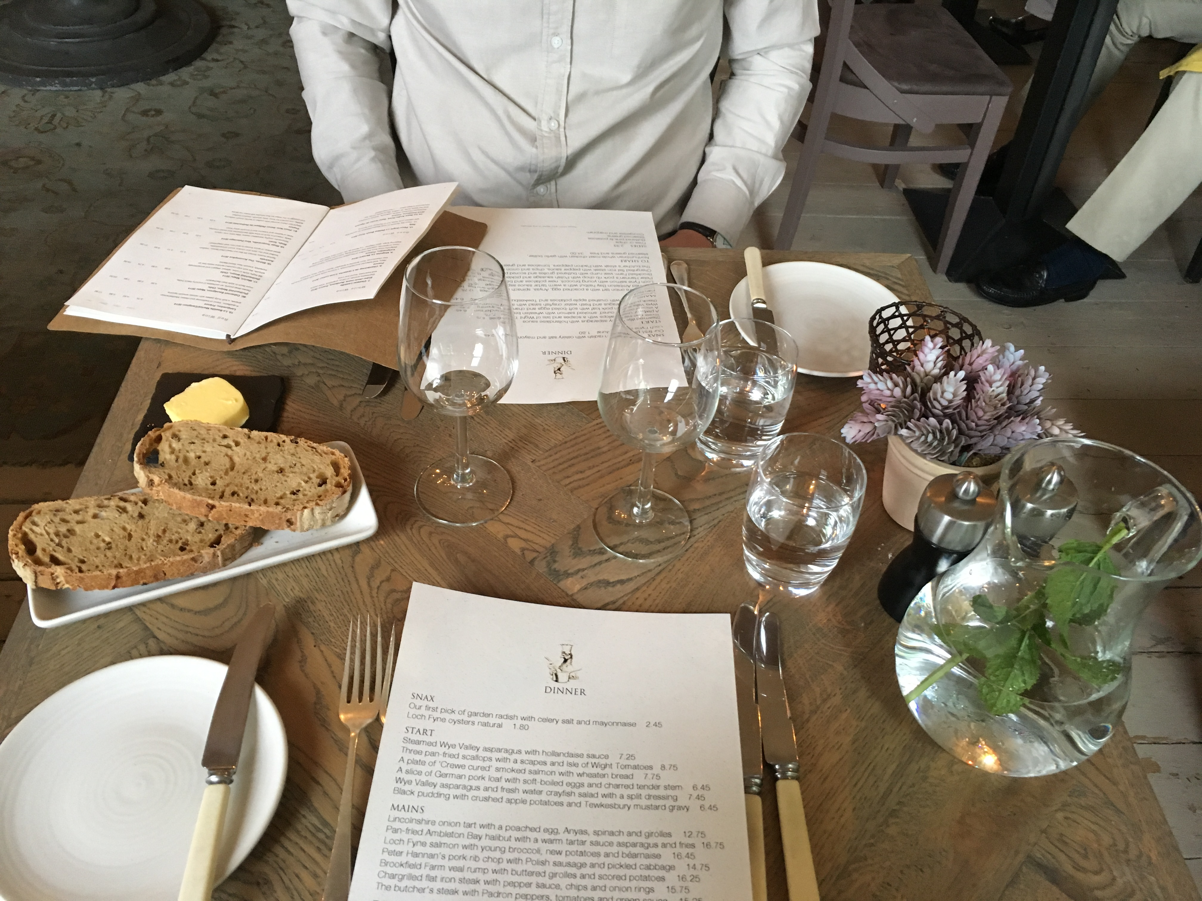 Image Shows Menu At The Lord Crewe Arms In Blanchland