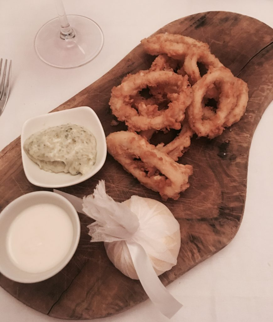 Calamari started at Marco Pierre White Newcastle