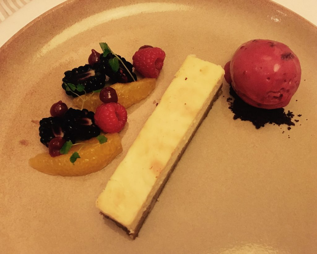 Image shows New York Cheesecake at Marco Pierre White Newcastle