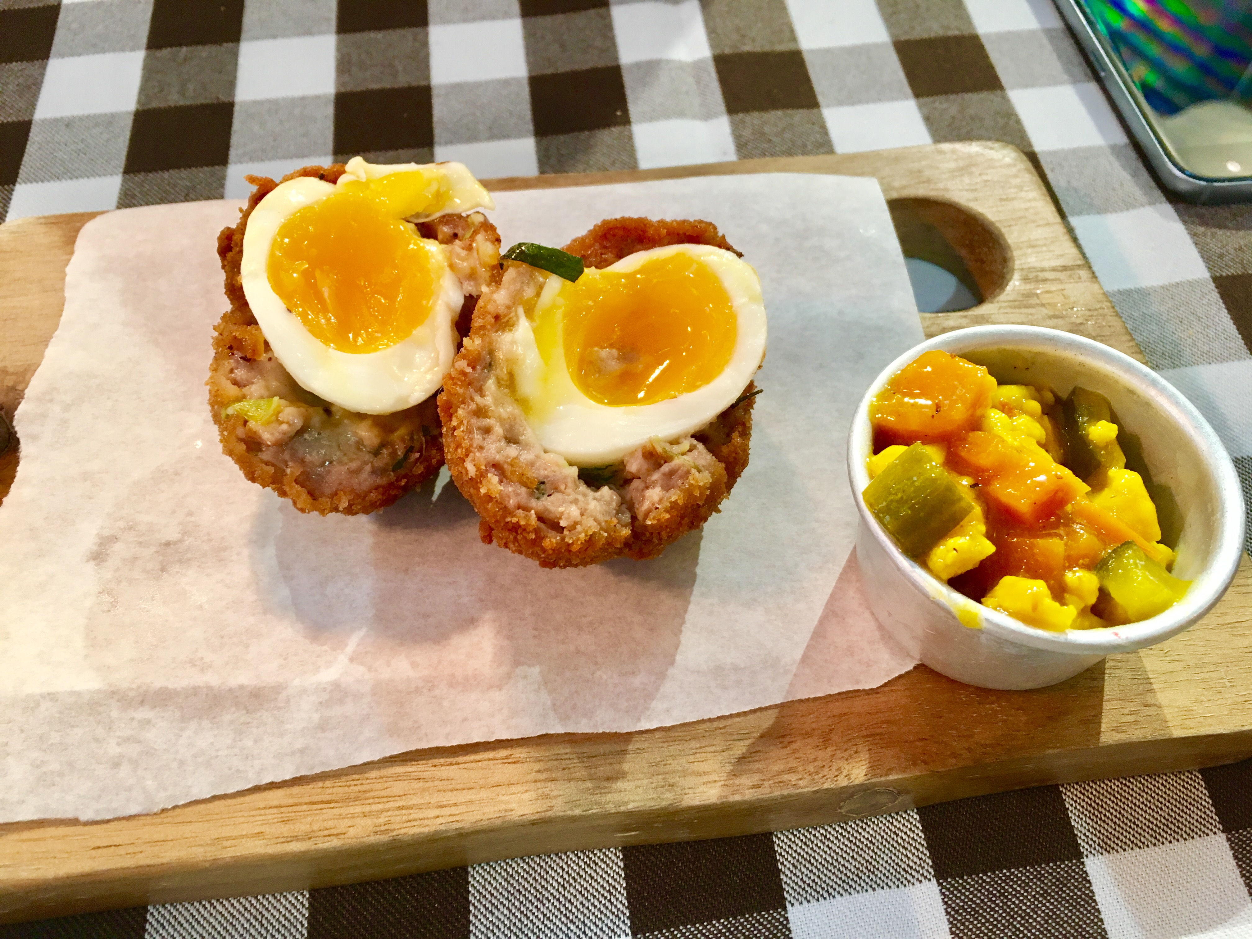 picture of scotch egg at georges great british kitchen newcastle - Georges Kitchen