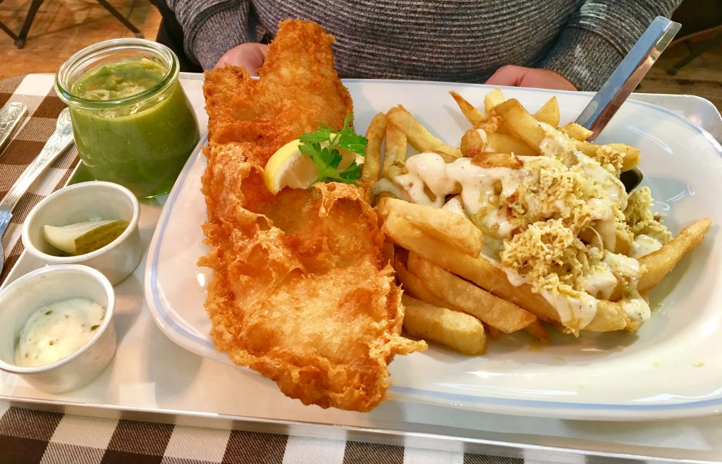 cod and stilton chips at georges great british kitchen newcastle - Georges Kitchen