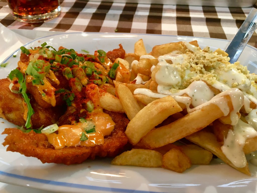 Paprika battered Haddock at George's Great British Kitchen
