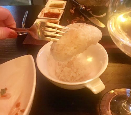 Sticky rice at Chaophraya Newcastle