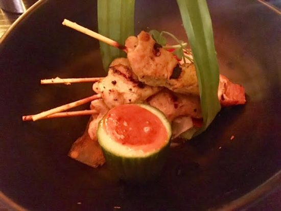 Satay skewers at Chaophraya Newcastle
