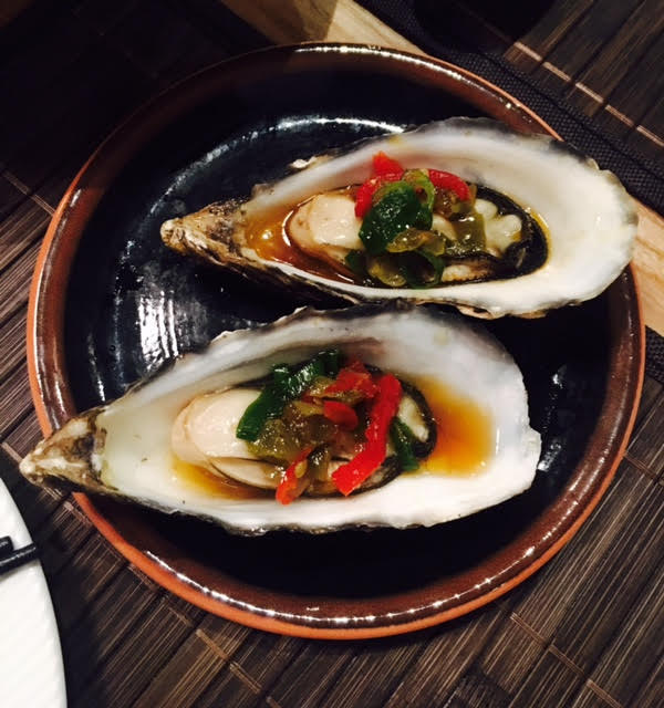 Steamed oysters at La Yuan Newcastle