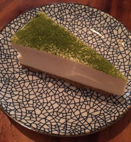 Matcha cheesecake at Meet and Treat