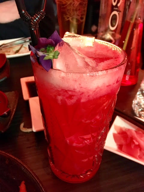 Raspberry Bloom cocktail from Aveika Newcastle