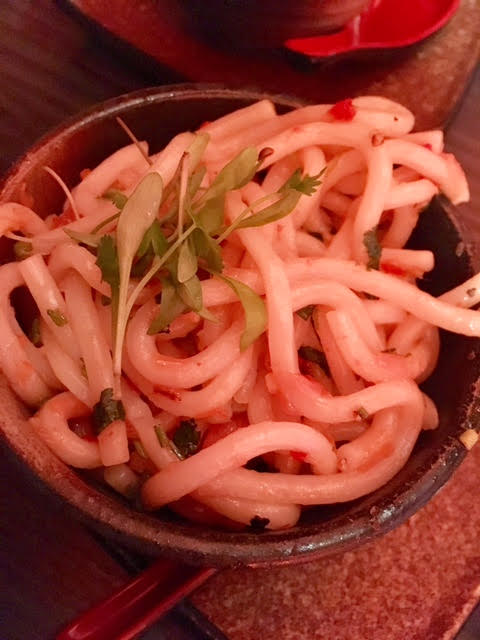 Udon side dish at Aveika Newcastle