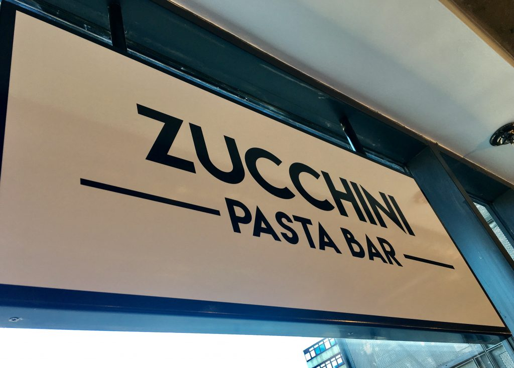 Zucchini Pasta Bar: Italian soul food at 55 Degrees North