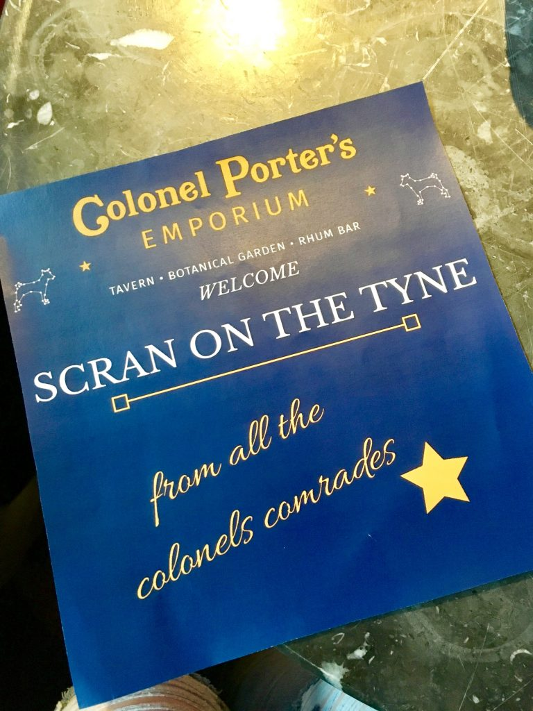Colonel Porter's welcome greeting - Scran on the Tyne