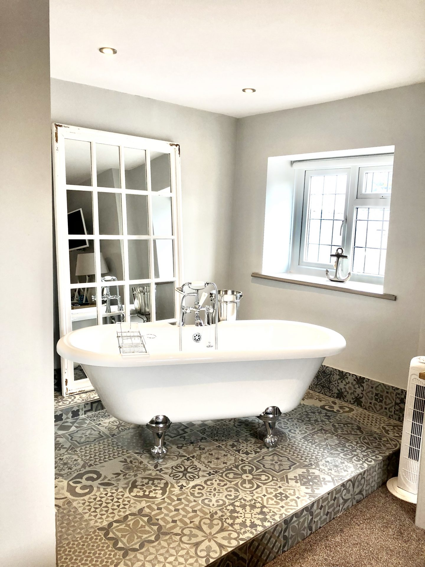 Bath in the Alnmouth room at Catch Ponteland