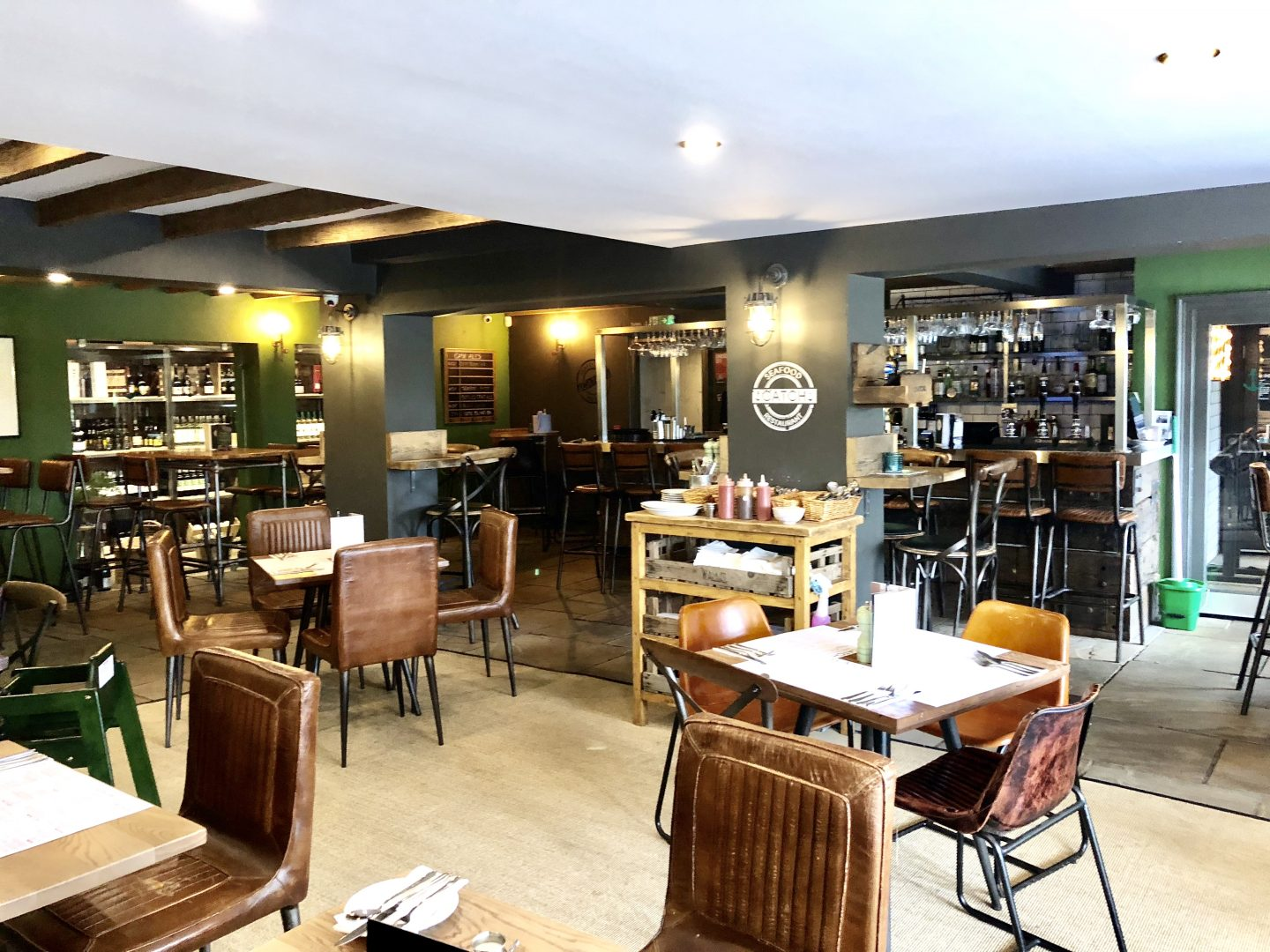 Image shows bar area at Catch Ponteland