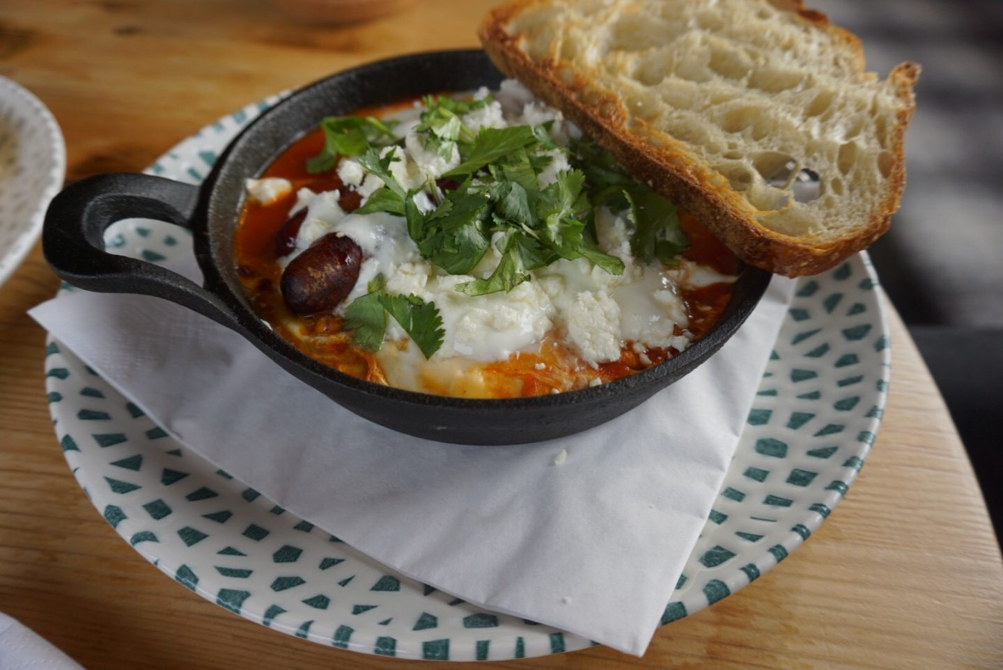 Shakshuka at Aidan's Kitchen, newcastle